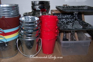 Metal buckets that I seem to use for everything!