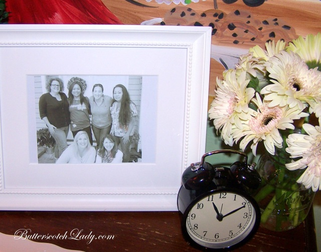 "I framed a picture of Deborah and our ""Friday Breakfast club"" members."
