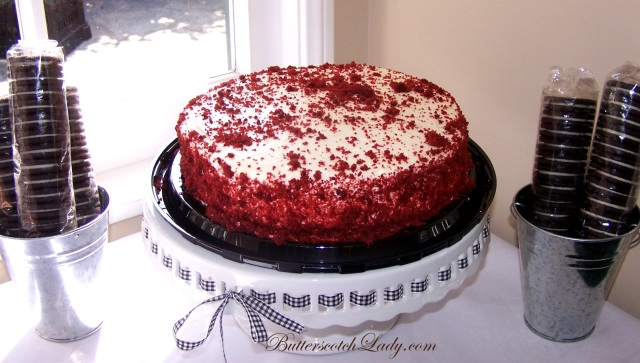{Red velvet cake from Costco.  Yummy and only $9.99!}
