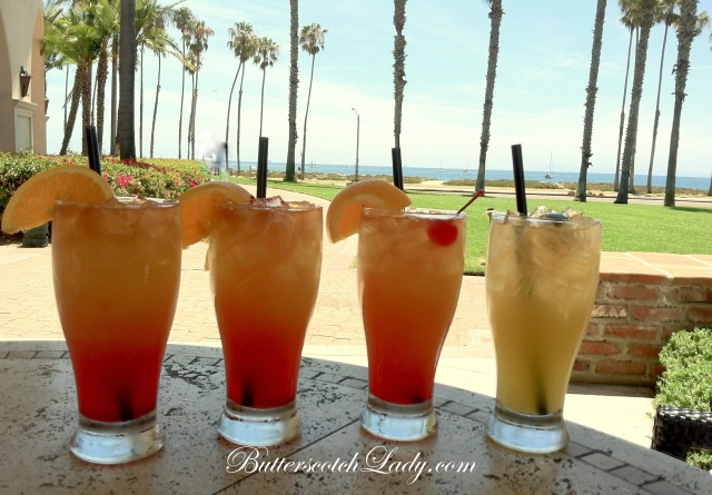 {Cocktails at the Fess Parker in Santa Barbara}