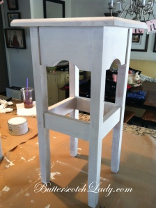 {2nd coat complete.  I did do a 3rd coat on the table because I did 2 very conservative coats for example purposes}