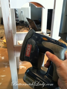 {This is my favorite tool that Mr. Cabana bought for me, my cordless power sander}