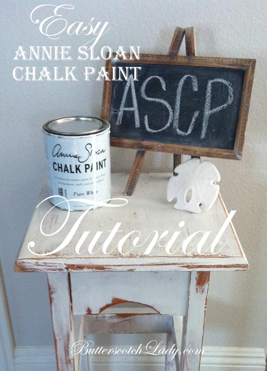 Easy Annie Sloan Chalk Paint Tutorial Butterscotch Lady